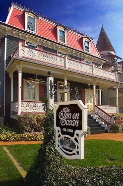 The Inn On Ocean, (formerly known as the Captains' Quarters), Cape May, New Jersey   - phantom footsteps, voices heard ,  objects move on their own