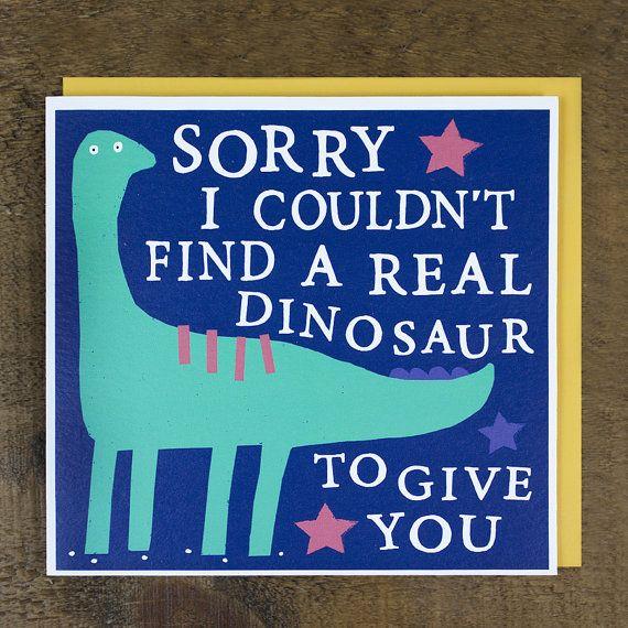Dinosaur Birthday Card  Funny Birthday Card  by ZoeBrennanCards