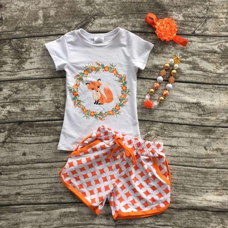 $14.99 (Buy here: https://alitems.com/g/1e8d114494ebda23ff8b16525dc3e8/?i=5&ulp=https%3A%2F%2Fwww.aliexpress.com%2Fitem%2Fbaby-Girls-Summer-clothes-baby-girls-boutique-clothing-children-fox-sets-girls-summer-shorts-with-necklace%2F32685225570.html ) baby Girls Summer clothes baby girls boutique clothing children fox sets girls summer shorts with necklace and headband for just $14.99