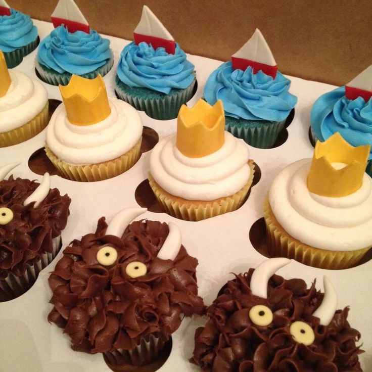 Check out these awesome 'Where the Wild Things' cupcakes. So so cute! See more party ideas at CatchMyParty.com