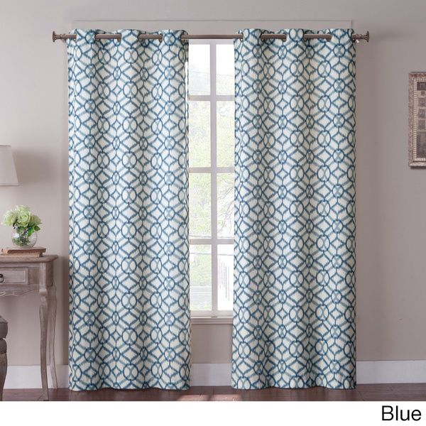 Superior VCNY Tanjiers Ikat Grommet 84 Inch Curtain Panel Pair By VCNY