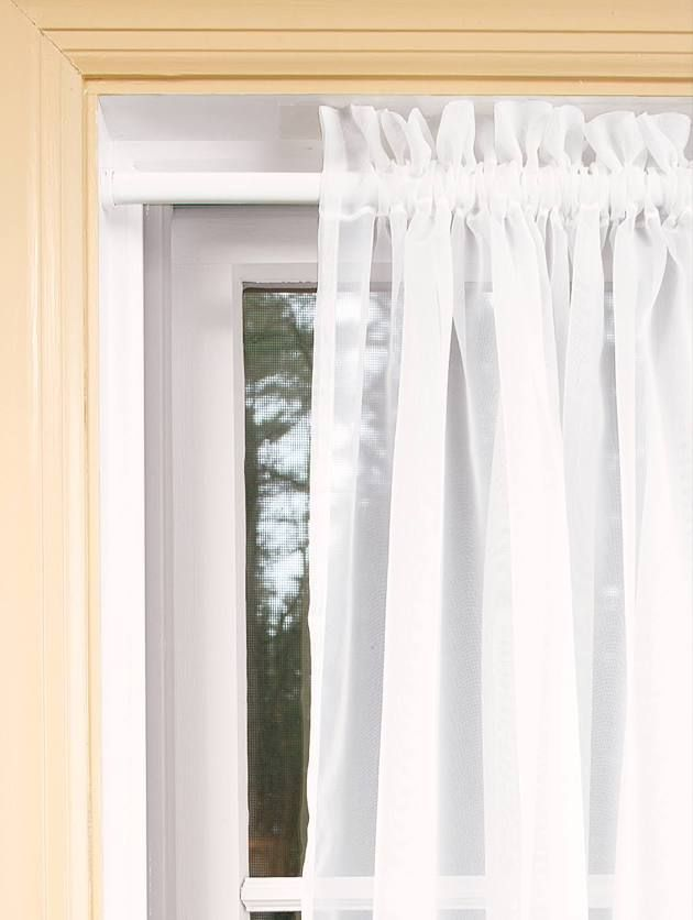 Extra Long Wood Grommet Rod Curtains Tension Rod Curtains