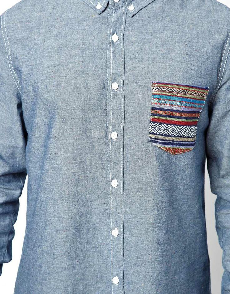 Another Influence | Another Influence - Camicia a maniche lunghe con tasca a stampa azteca su ASOS