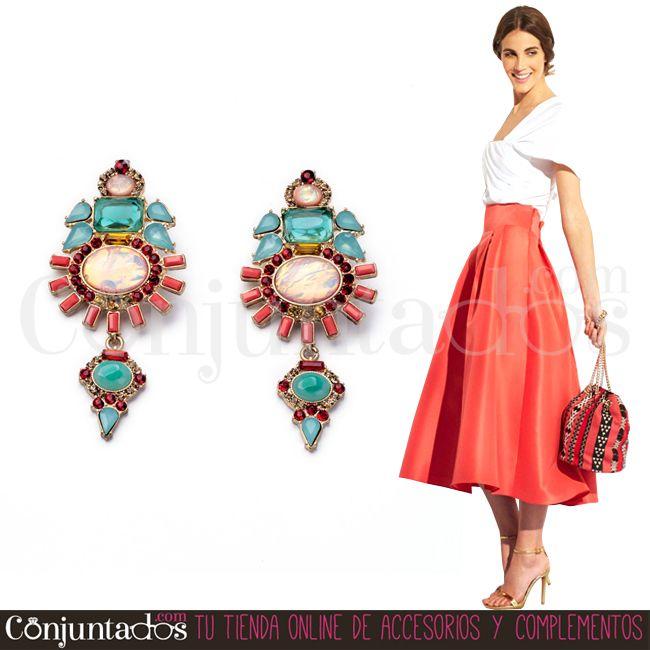 Si quieres que todas las miradas se posen en ti, hazte con los #pendientes Barroque ★ 14'95 € en https://www.conjuntados.com/es/pendientes-barroque-de-piedras-verdes-rojo-y-coral.html ★ #novedades #earrings #conjuntados #conjuntada #joyitas #lowcost #jewelry #bisutería #bijoux #accesorios #complementos #moda #fashion #fashionadicct #picoftheday #outfit #estilo #style #GustosParaTodas #ParaTodosLosGustos