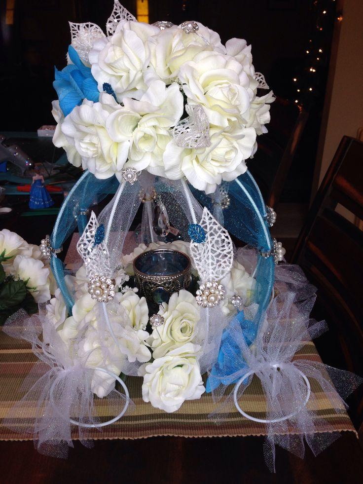 Cinderella Quince main table centerpiece | My Quinceañera ...  Cinderella Quin...