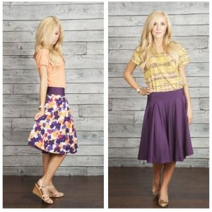 A reversible sister missionary skirt - super cute and available in two colors