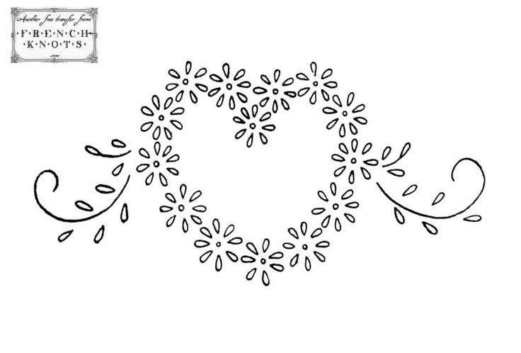 Free Hand Embroidery Transfers | ... is still time to whip up a small embroidery before Valentine's day
