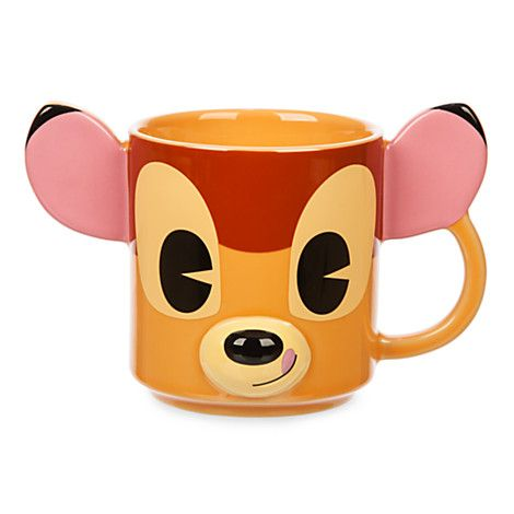 Bambi's smile and coffee will help get you through the day. BAMBI DIMENSIONAL COFFEE MUG #Disney http://bit.ly/28NfPY0