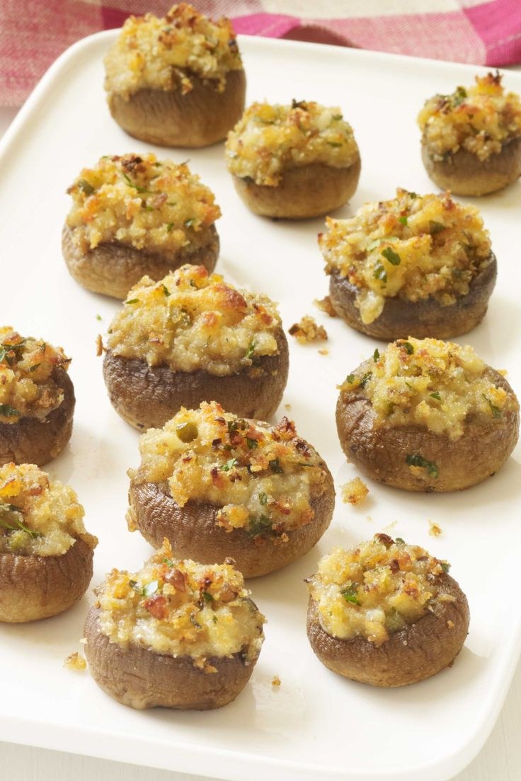 Clam stuffed mushrooms...mushroom caps stuffed with a mixture of ...