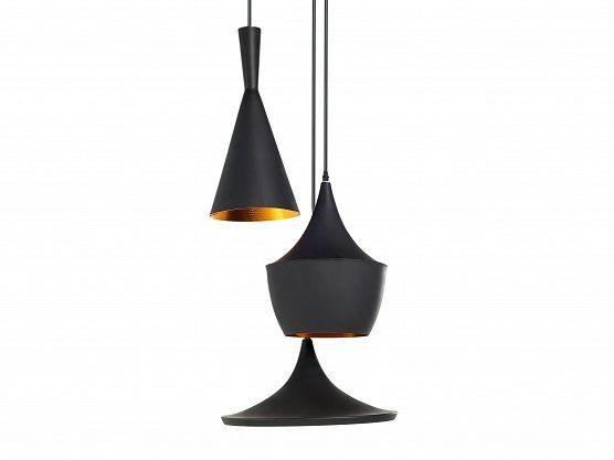 Lampa czarna - sufitowa - żyrandol - lampa wisząca - CARSON_551621