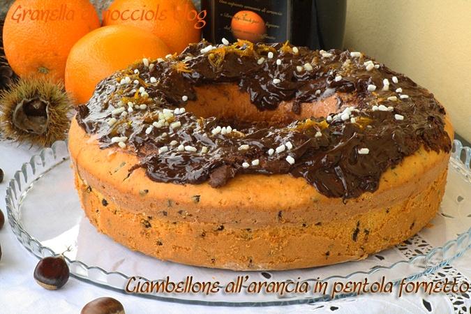 Ciambellone arancia cioccolato
