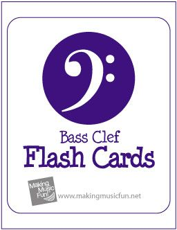 Free Printable Music Flash Cards / Bass Clef Note Names (Scheduled via TrafficWonker.com)
