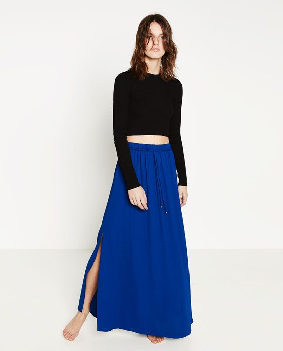Image 1 of LONG FLOWING SKIRT from Zara