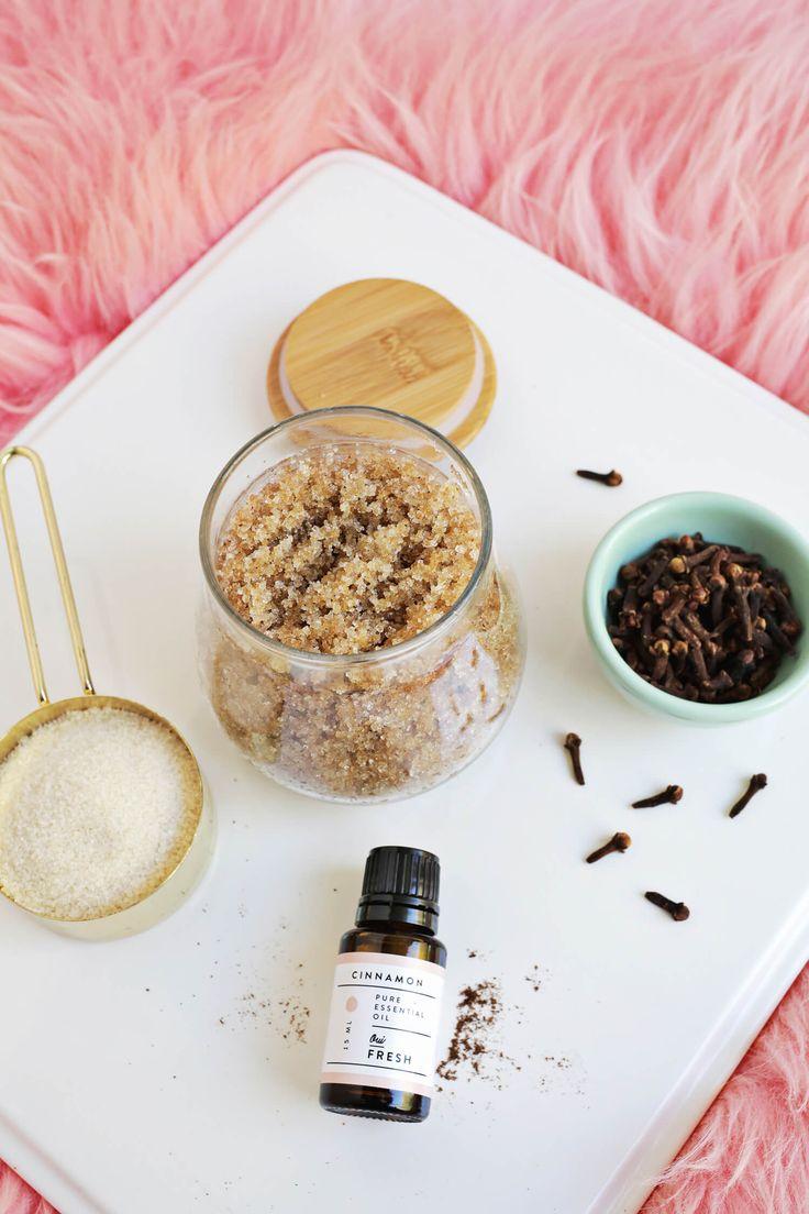 DIY Cinnamon Spice Sugar Scrub