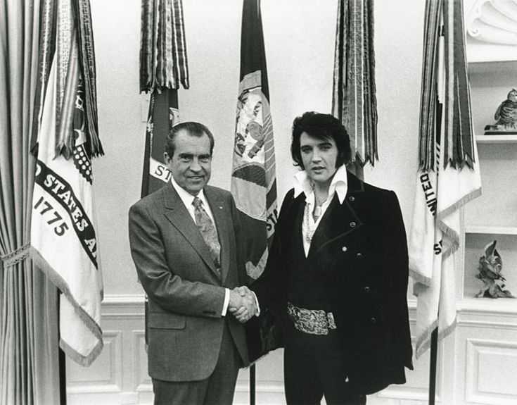 Tricky Dick and Elvis meet