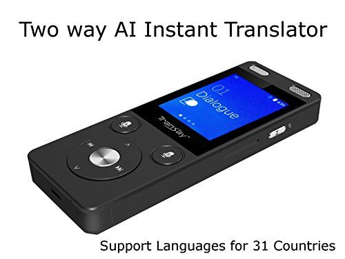 TranSay AI Two Way Instant Digital Voice Translator Recorder device supports Chinese,English,Arabic,Danish,German,Spanish,Finnish,French,Italian,Japanese,Korean,Dutch,Polish,Portugal,Russian,Swedish #TranSay #Instant #Digital #Voice #Translator #Recorder #device #supports #Chinese,English,Arabic,Danish,German,Spanish,Finnish,French,Italian,Japanese,Korean,Dutch,Polish,Portugal,Russian,Swedish