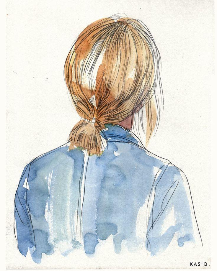 watercolor on paper © kasiq . . . . . . . . #kasiq #painting #illustration #일러스트 #streetstyle #paris #menswear #그림 #Streetfashion #fashion…