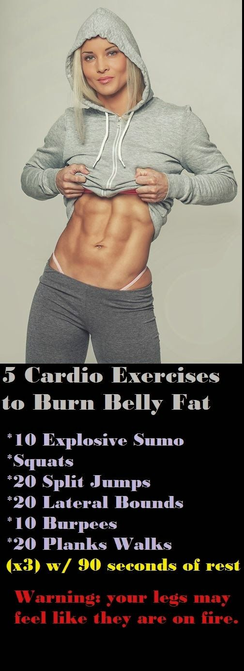 5 Cardio Exercises To Belly Fat - Health Tricks