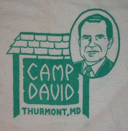 RARE Vintage 1970's 70's President Richard Nixon Camp David Retreat T Shirt Tee | eBay