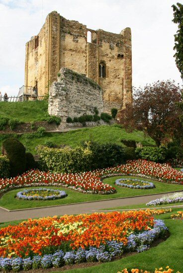 Guildford Castle and Grounds, Guildford, Surrey, England. Built shortly after the invasion of William the Conqueror in 1066