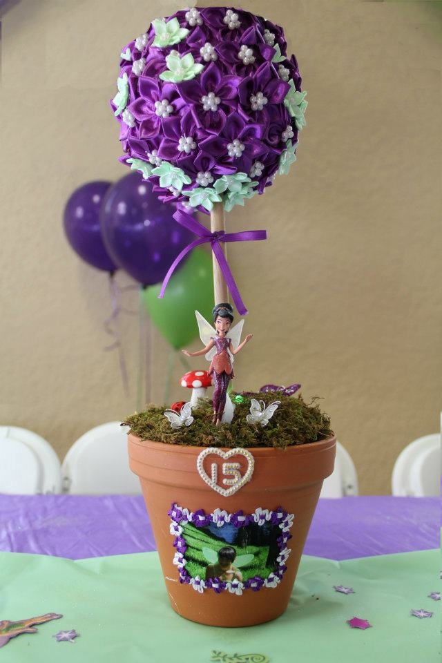Center pieces for my cousin's Quinceanera. #fairy