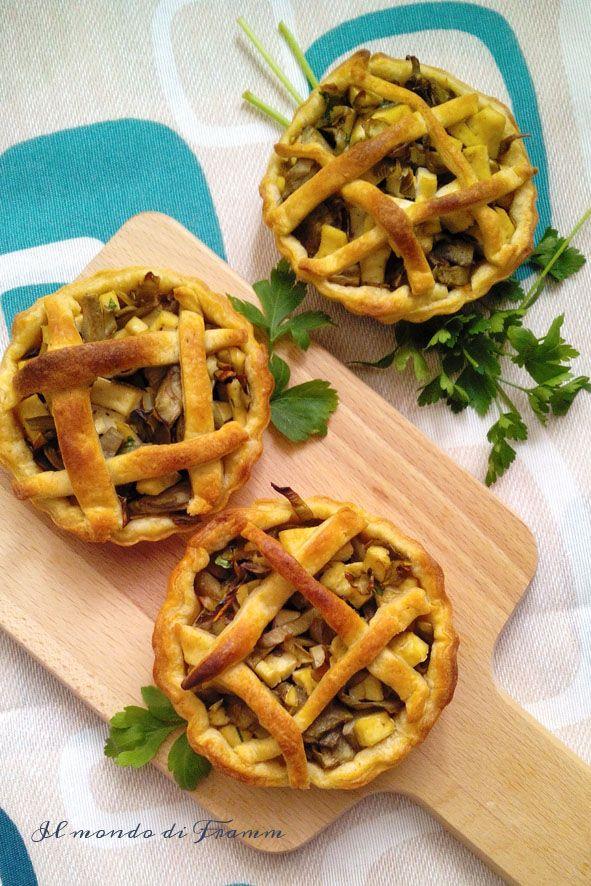 Tartellette integrali con carciofi e tofu | Il mondo di Framm
