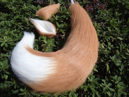 Japan-Anime-Spice-and-Wolf-Holo-fox-ears-and-tail-plush-cosplay-prop-65cm