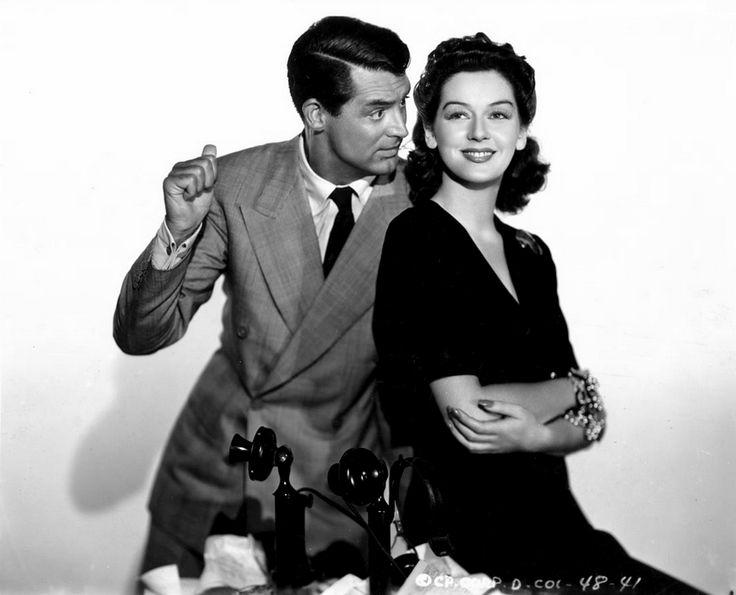 Cary Grant & Rosalind Russell - His Girl Friday (1940).