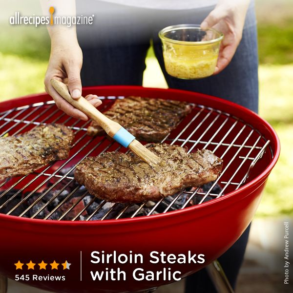 "Sirloin Steaks with Garlic | ""Excellent. didn't change a thing. Simple way to 'tart up' a basic steak. Mmmmmm."" - MRSDARCY (Steak Butter Marinade)"