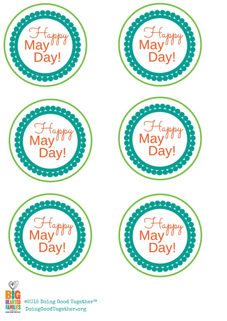 Printable May Day labels from Doing Good Together™