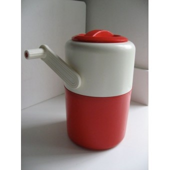 Vintage Retro Pedrini Ice Crusher with red and white made in Italy