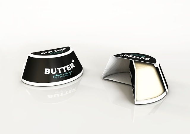 This Butter Packaging Reveals the Product with a Rotating Compartment #cheese trendhunter.com