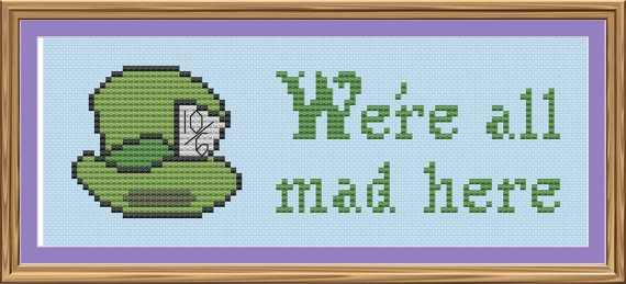 Alice in Wonderland! Cute cross-stitch pattern