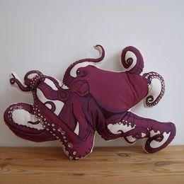 Plush Octopus Pillow