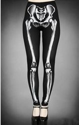 Restyle Skeleton Leggings  Ultra cool Skeleton bone leggings from Restyle. These high quality, super stretchy, light weight, Gothic leggings are ideal for everyday wear or for dressing up for a night out.