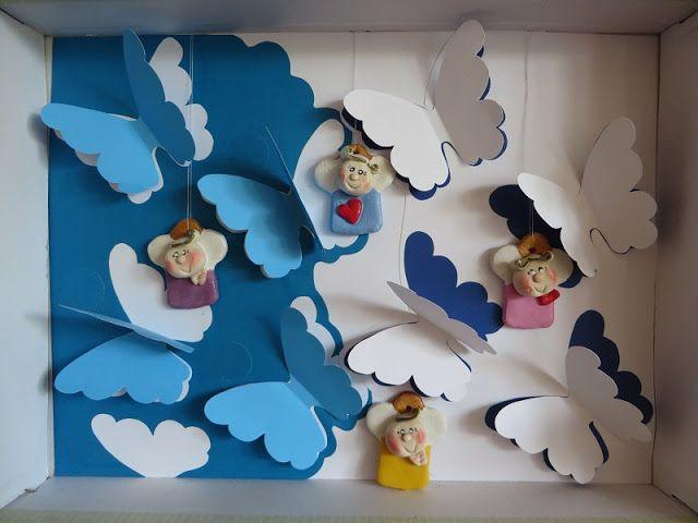 Eksperymenty z drutami: Motylkowe niebo dla aniołków DIY oraz motyw robóte...