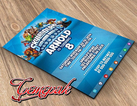 Skylanders birthday party Design-Birthday by Cemepak on Etsy