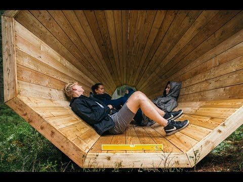 Estonian Students Build Giant Wooden Megaphones To Listen To The Forest Somewhere In Tallinn, an Estonian forest, close to the Latvian border, three massive ...
