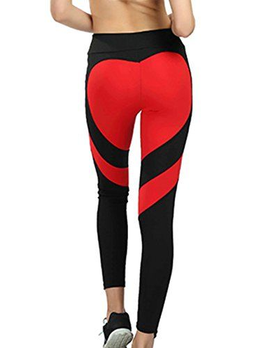 1a5aae2df329d Women's Sexy High Waist Heart Shaped Stretch Leggings Skinny Workout Running  Jogging Pilates Yoga Pant