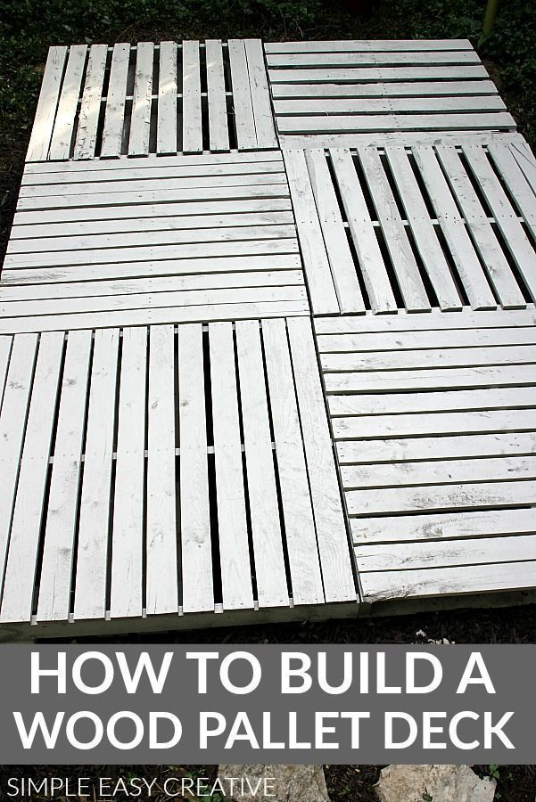 How To Build A Wood Pallet Deck Woodpallet Diywoodpalletdeck Woodenpallet Pallet Decking Wood Pallets Pallet Diy