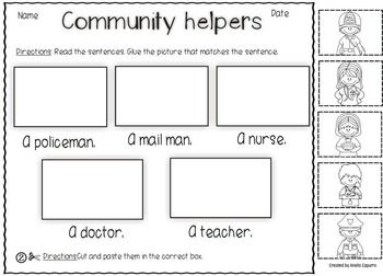 COMMUNITY HELPERS-VOCABULARY PACK