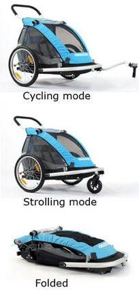 The Croozer Kid for 1 or 2 Bike Trailers are the few convertible bicycle Trailers that come complete with all conversion kits required.  It is sturdy, sleek and built with quality material. I would consider one, if you like getting value for your hard earned money!