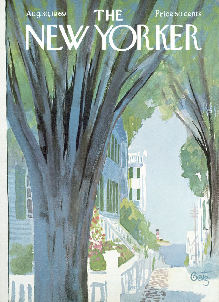 The New Yorker - Saturday, August 30, 1969 - Issue # 2324 - Vol. 45 - N° 28 - Cover by : Arthur Getz