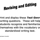 Awesome!!! This is a set of posters that focus on the Writing Test Genre type questions. These simple posters are made to help students become familiar with the terminology on standardized writing test. These questions are also great for students to use as they revise and edit their own writing.