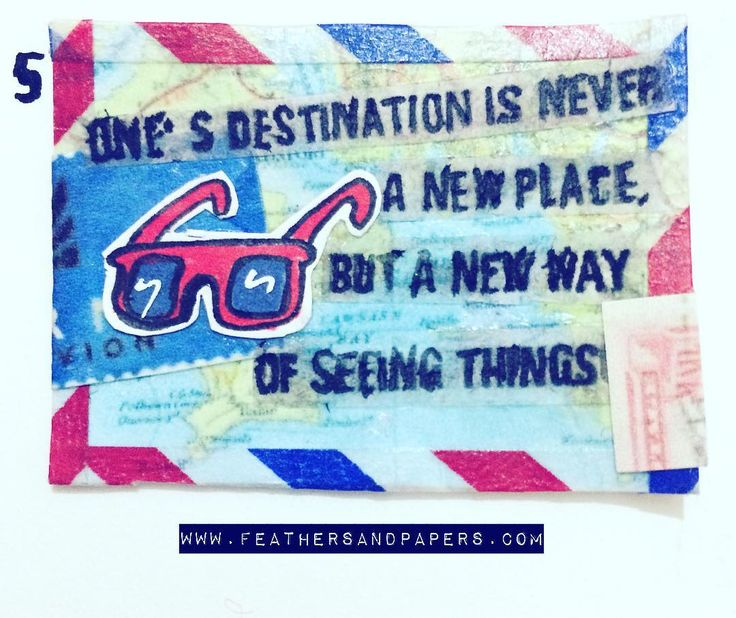 [218/366] One's destination is never a new place but a new way of seeing things … – 365 Art Calendar