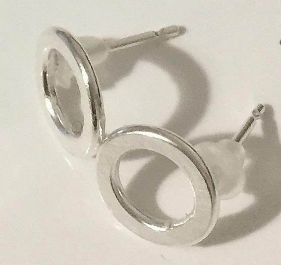 Hand Made Sterling Silver Hoop Stud Earrings £14.00