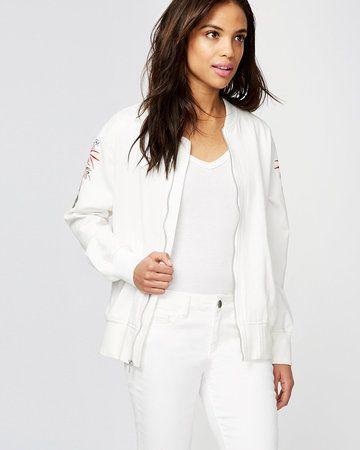 RACHEL Rachel Roy  Embroidered Bomber Jacket