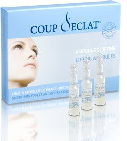 A serum that is applied to clean skin to give an instant face lift lasting 8 hours. Skin becomes smoother and more radiant, traces of fatigue disappear, and fine lines are smoothed out.  Acmella extract (a South American plant) produces a  myo-relaxing effect (Botox-Like effect) along with a  soothing action.