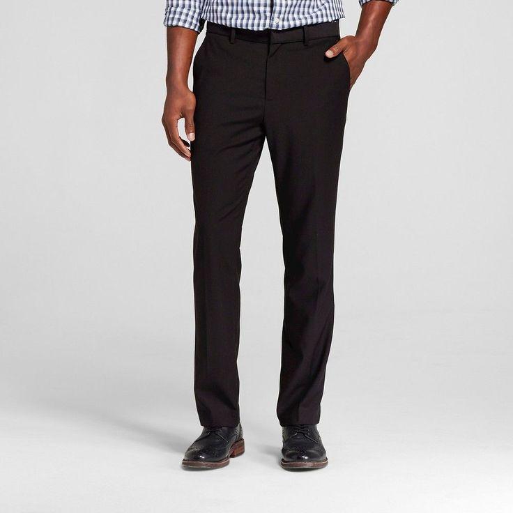 Men's Big & Tall Slim Fit Suit Pant Black 32X36 Merona