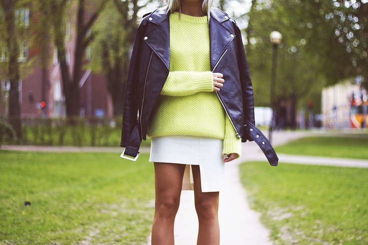 Angelika on asymmetric skirt